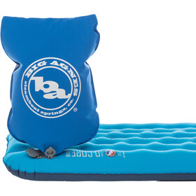 Big Agnes Insulated Q-Core Deluxe Liggeunderlag Lang 51x198cm, turkis